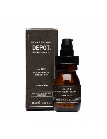 No. 505 conditioning beard oil (.lether & wood.) 30ml
