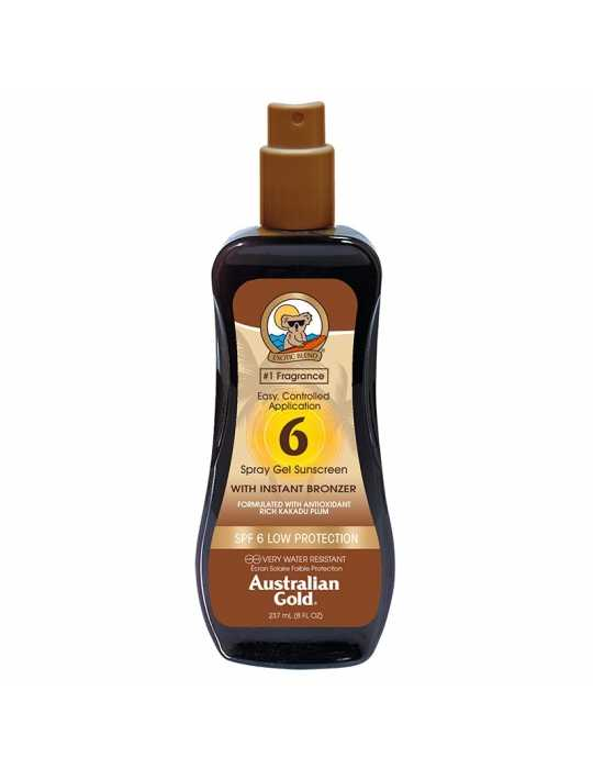 Spf6 spray gel sunscreen ed effetto bronze 235ml - australian gold