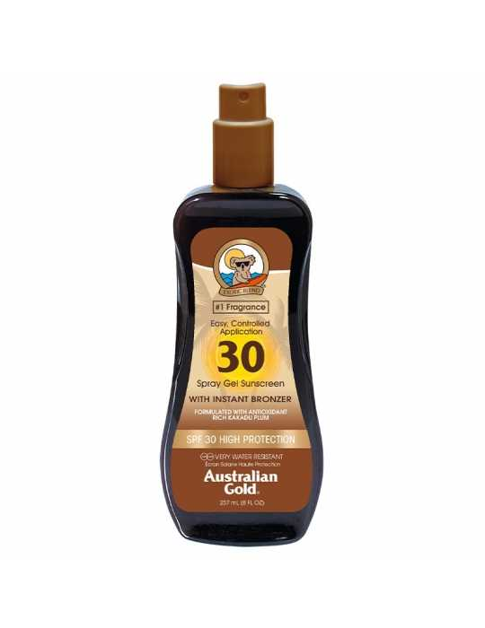 Spf30 spray gel sunscreen ed effetto bronze 235ml - australian gold